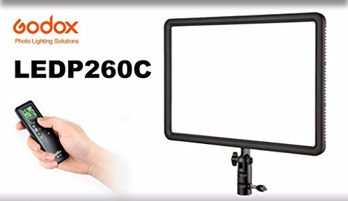 Godox LEDP260C Ultra Slim LED Interview Video Light (Black)