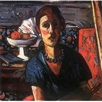 Hecho a mano de pintura al óleo de pintura GFM reproducciones de mujer en bata azul
