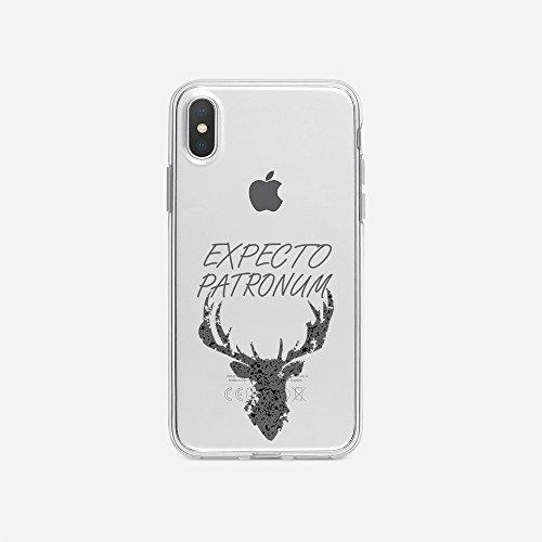 licaso Handyhülle für iPhone X aus TPU mit Expecto Patronum Print Design Schutz Hülle Protector Soft Extra