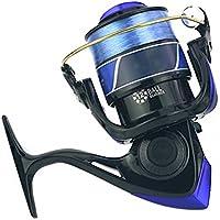 Alftek Carrete giratorio para pesca de cebo de velocidad estándar, pesca, ligero, ultra suave, negro, 7000