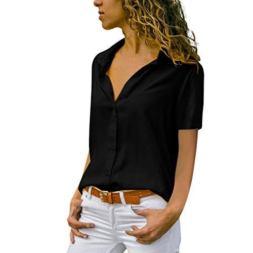 MRULIC Damen Shirt Tie-Bow Neck Striped Langarm Spleiß Bluse Gestreift Damen Tragen Tops...