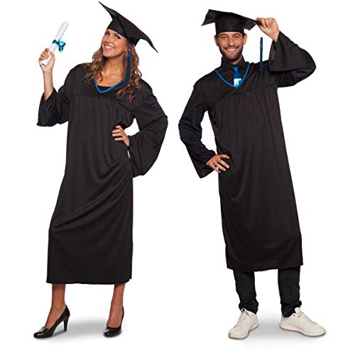 Folat 64070 Akademischer Talar Schüler und Studenten Doktorhut mit Quaste (Einheitsgrösse), unisex-adult One ()