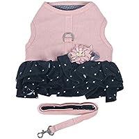 CS El Cat Chaleco de tracción tipo cuerda anti tirón cuerda arnés para gato gratis cuerda especial falda de gato especial ( Color : Pink , Size : L chest 43-50CM )