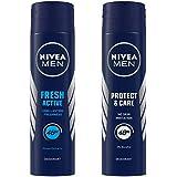 NIVEA Men Deodorant, Fresh Active Original, 150ml And NIVEA Men Deodorant, Protect & Care, 150ml