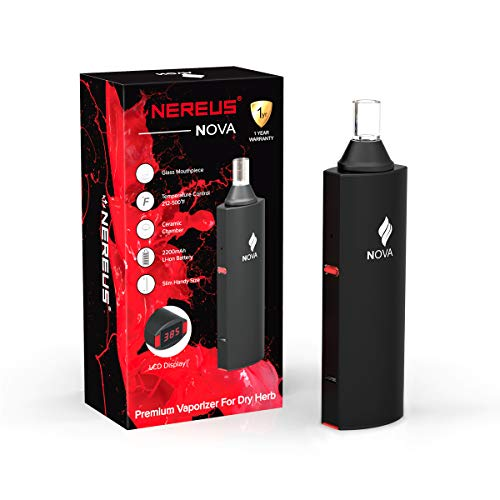 NOVA Dry Herb Vaporizer Prime E Verdampfer für Raucher Tabak -OLED SCREEN Temperatureinstellung Display mit Pure Ceramic Schnellheizkammer -2200mAh AAA Batterie Herbal E Cigarette Kit -Kein Nikotin