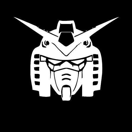 haotong11 15,6 cm * 12,5 cm Gundam RX-78 Anime Autozubehör Aufkleber Abziehbilder Schwarz/Silber 5 stücke