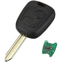 Llave con control remoto de la marca KATUR. 2 botones, hoja sin forma tallada