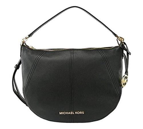 Michael Kors Bedford Medium Covertible Leather Shoulder/Crossbody bag - Black