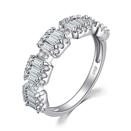 Jewelrypalace Damen -  Sterling-Silber 925  Sterling-Silber 925 Rundschliff Rectangle   weiß kubisches Zirkonoxid