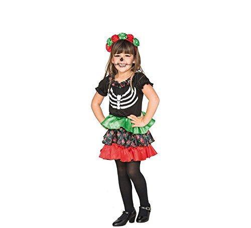 Fyasa 706465-tbb Catrina Mädchen Fancy Dress Kostüm, - La Catrina Kostüm Mädchen
