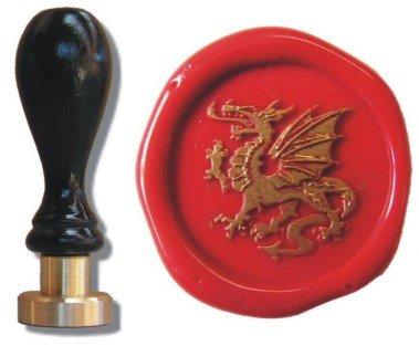 Siegelstempel Petschaft Drachen III 24 mm - Flammen Mit Drache Liebe Der