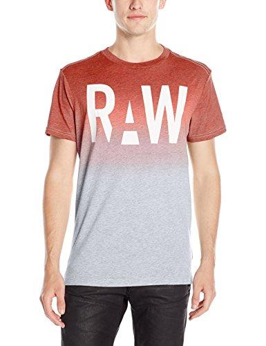 G-Star Raw -  T-shirt - Maniche corte  - Uomo rosso grey htr/flame XXL