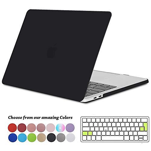 TECOOL MacBook Pro 15 Hülle 2019/2018/ 2017/2016 Case, Plastik Hartschale Schutzhülle Cover mit Transparent EU Tastaturschutz für Apple MacBook Pro 15 Zoll mit Touch Bar Modell: A1990/ A1707-Schwarz (Für Apple 15 Cover Macbook Pro)