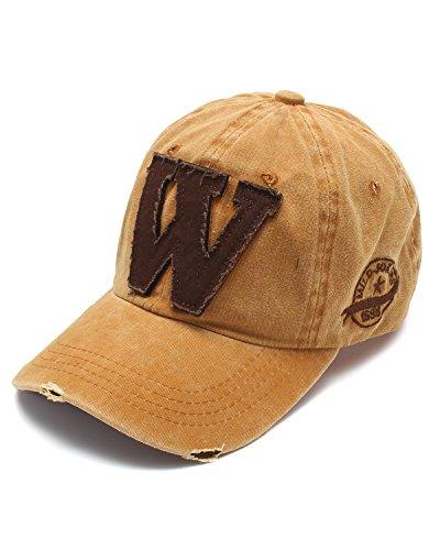 SUNNYME Unisex Männer Frauen Mit Jeans Und Baseball Kappe Visor Snapback Hut Gelb One (Mann Hut Dem Mit Gelben)