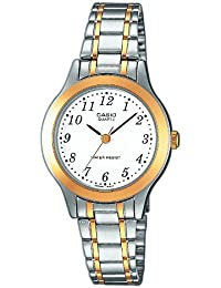 Casio – ltp-1263pg-7bef – Collection Damen-Armbanduhr 045J699 Analog weiß Armband Stahl Silber
