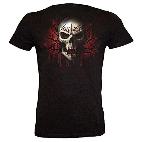 Spiral GAME OVER Fitted Fine Strech T-Shirt #35062 Schwarz