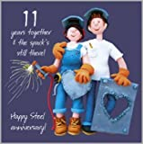11th Wedding Anniversary Card