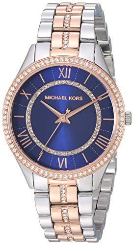 Michael Kors Zwei Töne Silber und Rotgold Edelstahl Damen Armbanduhr- MK3929 (Für Zwei-ton-uhren Frauen)