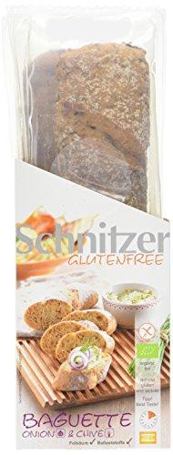 Schnitzer glutenfree Bio Baguette Onion & Chive, 4er Pack (4 x 320 g)