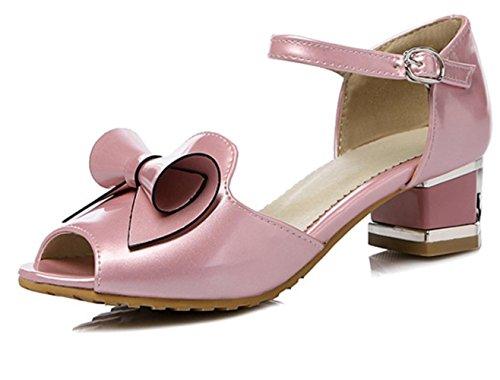 XDGG DONNE Papillon Sandali cerimonia nuziale di modo alti calza pink