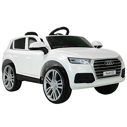 *HOMCOM Kinderauto Kinderfahrzeug Elektroauto Audi Q5 mit Fernbedienung Kinder Weiß 116 x 75 x 56cm*