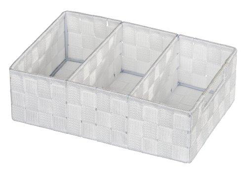 WENKO 20977100 Organizer Adria Weiß - mit Griff, 100 % Polypropylen, 32 x 10 x 21 cm, Weiß -