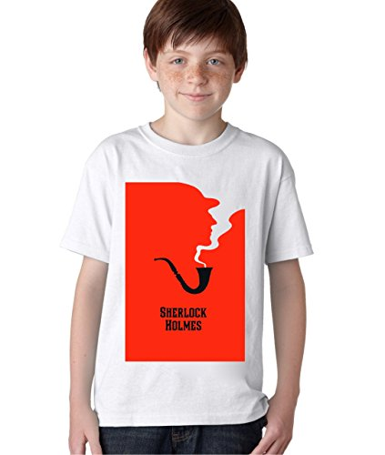 Sherlock Holmes Blood Pipe T-Shirt Unisex Baby Kids T-Shirt Ages 5-13 Extra Small (Show Pipe Shirt)