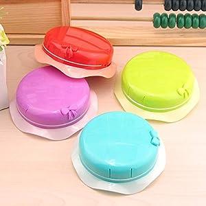 Kreative Kontaktlinsenbox in Hutform, tragbar, für Studenten, zufällige Farbe