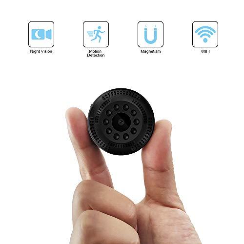 Mini Kamera, TDW Wireless HD 1080P WLAN Mini Überwachungskamera mit Bewegungserkennung Infrarot Nachtsicht Kleine Tragbar IP Überwachung Kamera für iPhone Android Handy