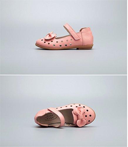 Printemps et automne Princesse Filles Chaussures Chaussures occasionnels Princesse Parti de l'école Mary Jane Chaussures princesse robe de soirée Partie Demoiselle Chaussures Bar Pinellia ternata rose sandales