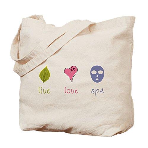 CafePress-Live Love Spa-Leinwand Natur Tasche, Reinigungstuch Einkaufstasche Tote S khaki
