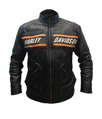 Goldberg in vera pelle giacca nero - XXL