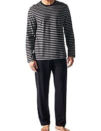 Mey Hombres conjunto de pijama modo noche largos de los pijamas de los hombres-3XL - Indigo