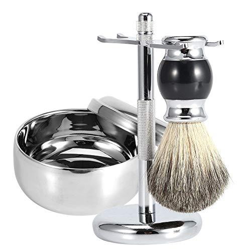 Rasierset Professionelle Männer Rasierwerkzeug Ständer Halter + Faux Badger Haarbürste + Legierung Seife Becher Schüssel Kit -