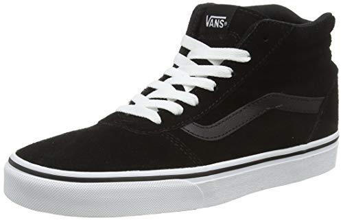 Vans Ward Hi, Zapatillas Altas para Mujer Negro Suede Black/White 0xt 38.5 EU