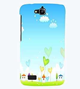 PRINTSWAG HEARTS AND HUT Designer Back Cover Case for HUAWEI HONOR HOLLY