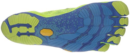 Vibram Fivefingers V-Run, Scarpe da Corsa Uomo Multicolore (Yellow/Blue/Teal)