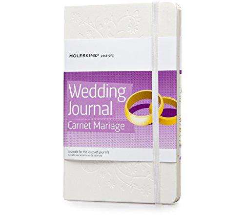 Moleskine Passion-Journal Hochzeit Large, Hardcover mit Prägung weiß