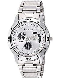Laurels Lwm-mtx-070707 Analog Silver Dial Men's Watch-LWM-MTX-070707