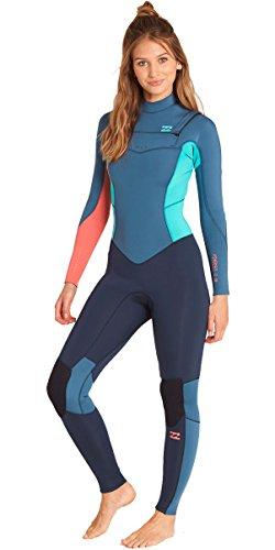 BILLABONG 2018/19 Neue Jahreszeiten Womens Synergy Synergy 5 / 4mm Kaltwasser Brust Zip Neoprenanzug in Schiefer Bunte Wassersport Neue Womens 4