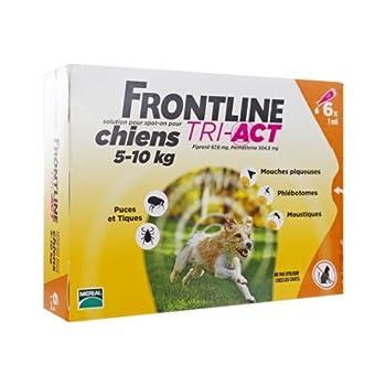 FRONTLINE Tri Act pour Petit Chien 5-10 kg 6 Pipettes