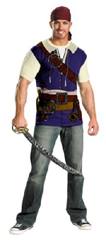 Pirates of Caribbean Jack Sparrow Shirt & Bandana Costume Adult XX-Large (Pirate Halloween-make-up)