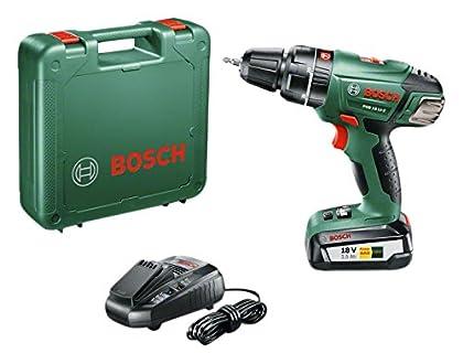 Bosch 0 603 982 30B Atornillador/Taladro de percusión con batería de Litio, 45 W, Negro, Gris, 18 V