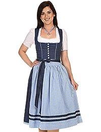 5ce94cc89696b9 Turi Landhausmode Damen Dirndl Midi Kurzes Dirndl Baumwolle D821070 Heidi  Rocklänge 70cm