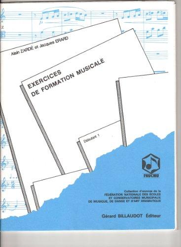 EXERCICES DE LECTURE POUR LA FORMATION MUSICALE/VOLUME 1-DEBUTANT 1