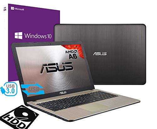 Notebook Asus Vivobook Portatile Pc Display da 15.6' Cpu AMD A6 2.60Ghz /Ram 4Gb DDR4 /HD 500GB /Graphics Radeon R4 /Hdmi Masterizzatore Wifi Bluetooth /Windows 10 professional + open office
