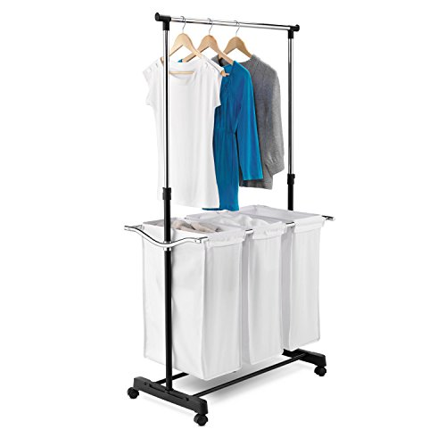 honey-can-do-srt-01237-triple-sorter-laundry-center-with-hanging-bar