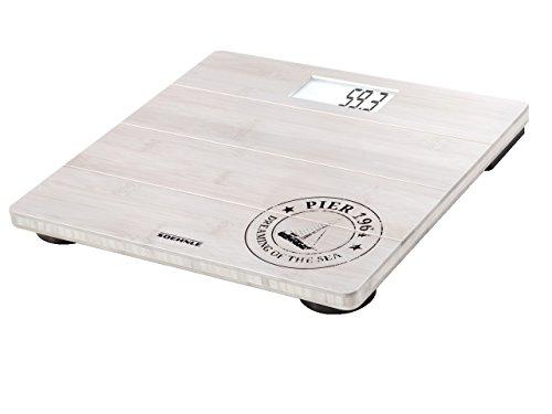 Soehnle 63845 Pesa persona elettronica Bamboo White 180 kg