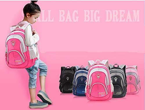 Leefrei Schulrucksack Schulranzen Schultasche Sports Rucksack Freizeitrucksack Daypacks Backpack für Mädchen Jungen & Kinder Damen Herren Jugendliche mit der Großen Kapazität (Vintag-Blau2) - 8