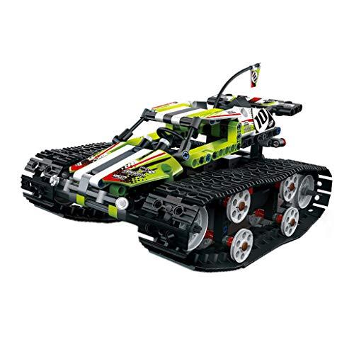 Fcostume 1:18 DIY montieren RC Cars Alloy 2.4G Funksteuerung Ziegel Panzer Fahrzeuge Spielzeug Geschenk RC Spielzeug (Grün)